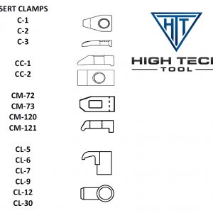 Clamps for indexable inserts