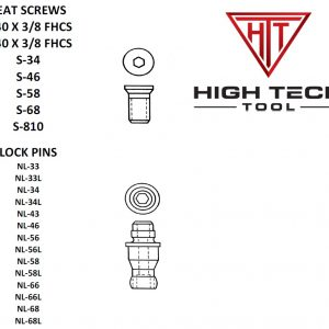 Seat Screws & LockPins for indexable carbide inserts